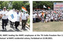 NHPC organizes Fit India Freedom Run 2.0
