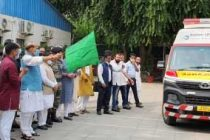 Rajnath flags off 5 ambulances donated to Army
