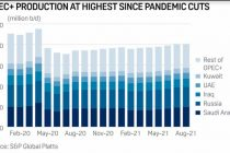 OPEC+ crude output up marginally, hampered by outages: S&P Global Platts