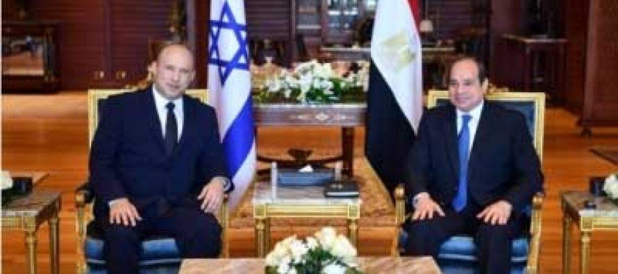 Egyptian Prez, Israeli PM discuss bilateral ties, Palestine