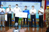 NLCIL felicitates Sajan Prakash, decides to develop world-class  swimming facilities at Neyveli