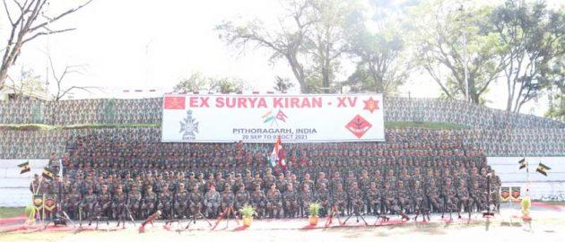 INDO-NEPAL JOINT MILITARY TRAINING EXERCISE SURYA KIRAN BEGINS AT PITHORAGARH (UK)