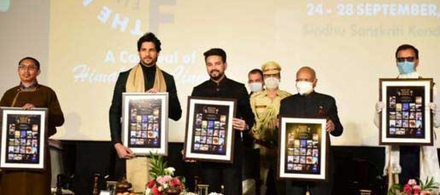 Minister Anurag Thakur inaugurates star studded1st Himalayan Film Festival at Leh