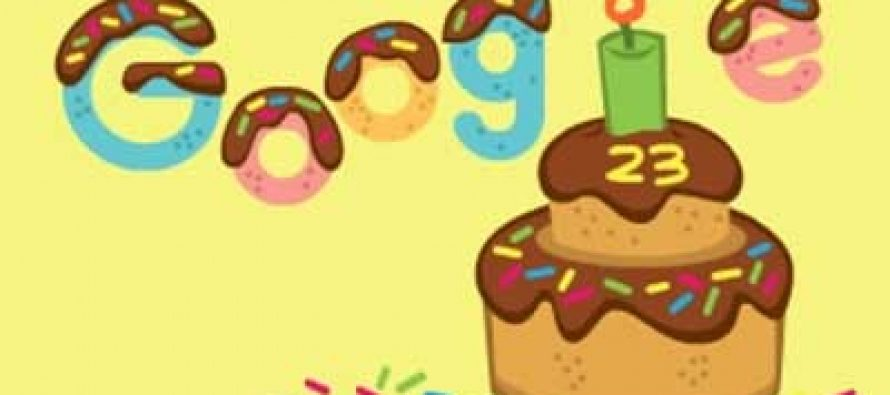 Google celebrates its 23rd birthday with animated doodle