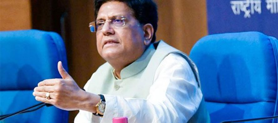 """Government to start and institutionalise 24 hours """"Helpline"""" for assistance to exporters and resolution of issues- Piyush Goyal"""