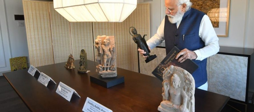 PM to bring home 157 artefacts & antiquities from the US