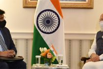 PM Modi meets with Vivek Lall, Chief Executive of General Atomics Global Corporation