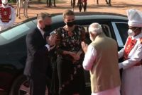 Modi meets visiting Danish PM