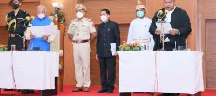 Indrajit Mahanty sworn-in as 6th Chief Justice of Tripura HC